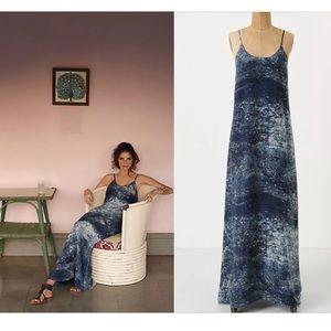 Anthropologie Partimi Splash silk maxi dress 0